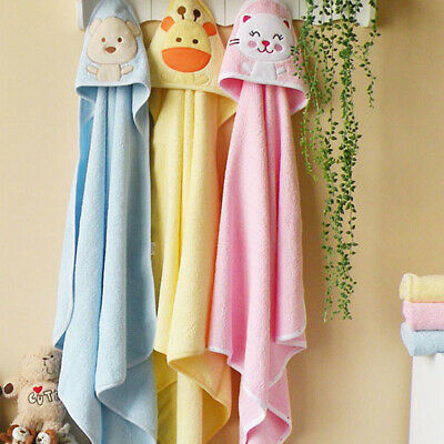 Soft Breathable Baby Hooded Towel Wrap up at Bath Time 76cmx76cm Unisex Gift TP