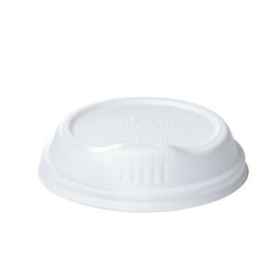 100x Coffee Travel Lid White For 8oz Coffee Cups Disposable Take Away Plastic