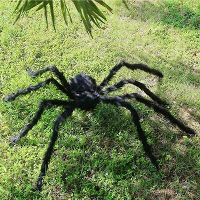 Plush Giant Spider Decoration Halloween Haunted House Props Garden Y0G9 M3Y9