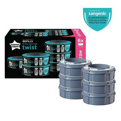 Tommee Tippee Twist and Click Advanced Nappy Disposal Sangenic Tec Pack of 6