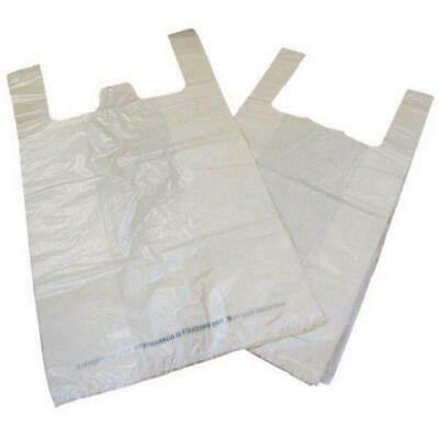 Carrier Bag Biodegradable White (Pack of 1000) MA21135
