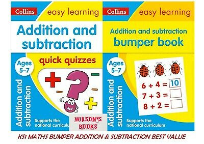 Collins Easy Learning Ks1 Maths Addition & Subtraction Ages 5-7 ***4 Book Bundle