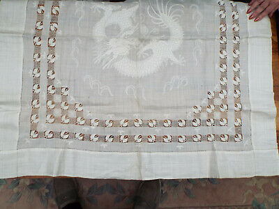 Antique Dragon Embroidered Tablecloth