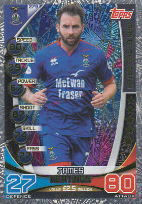 TOPPS MATCH ATTAX SPFL 2019-20 - James Keatings - Inverness - # 279 - MOTM