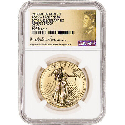 2006-W American Gold Eagle Reverse Proof 1 oz $50 - NGC PF70 Saint Gaudens Label