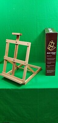 Fine Art Book Stand Beech Wood Mini Canvas Painting and Showing NIB