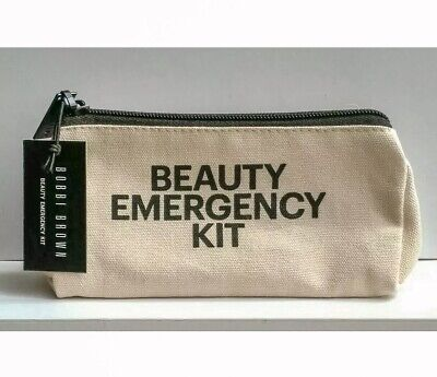 Bobbi Brown Canvas Make Up Toiletry Bag - Beauty Emergency Kit - BN, Authentic