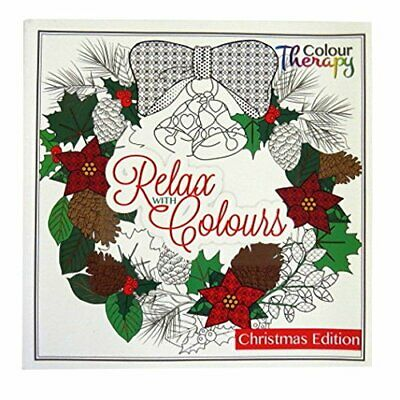 Christmas Premium Adult Colouring Book 60 Designs Colouring Therapy