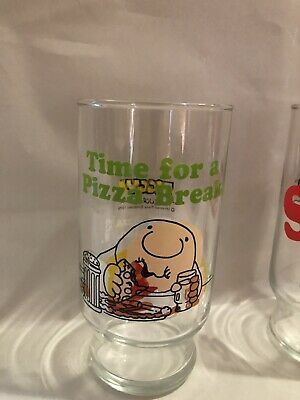 Ziggy Pizza Inn 1979 Glasses Set Of Two Vintage