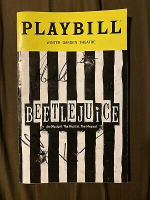 Beetlejuice The Musical! Playbill Sept 2019 Signed Kerry Butler Rob McClure