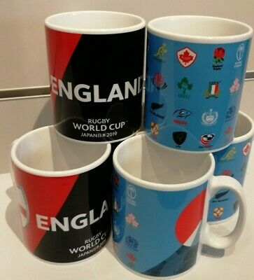New Official Rugby World Cup 2019 Japan 20 Unions / England Trophy Mug Rwc2019