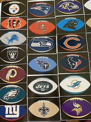 NFL Logo Football Decal Stickers Oval Choose Your Team Sticker