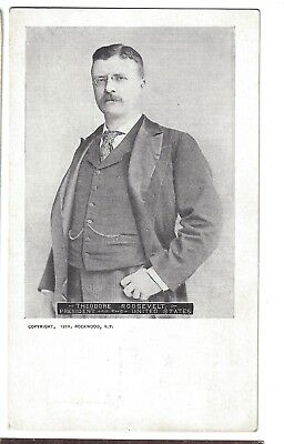 C 1899 Theodore Roosevelt President of the United States Postcard 1898 Image