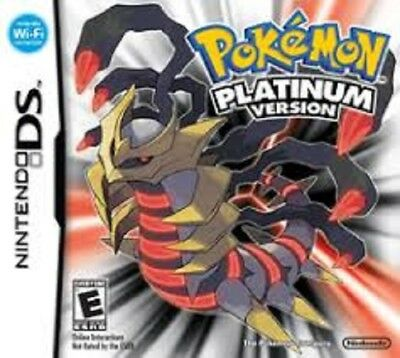 Pokemon PLATINUM  VERSION DS Games for DS  DSL xl 3DS (PAL VERSION) PAL VERSION