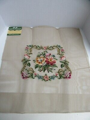 "Bucilla Decorator Needlepoint Pre Worked Finished Canvas 23"" Floral"