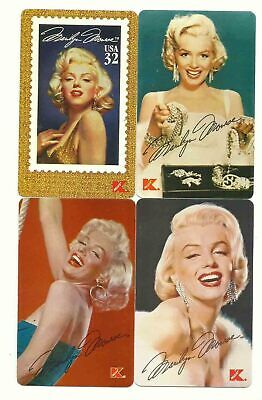 Marilyn Monroe 1995 K-Mart Telephone Card Lot - 4 Cards