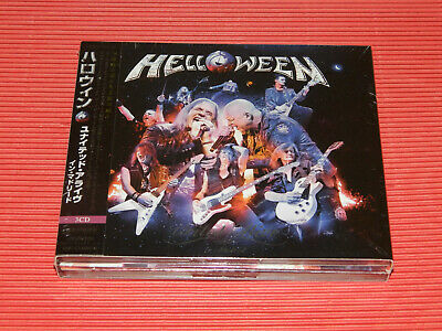 HELLOWEEN UNITED ALIVE IN MADRID JAPAN DIGIPAK 3 CD SET with STICKER (INSERTED)