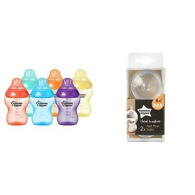 Tommee Tippee Closer to Nature Fiesta Bottles, 260 ml, Pack of 6 with Fast...