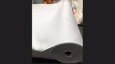 "Blackout Thermal Alabaster White Curtain Lining Fabric Pass 3-54/"" wide"