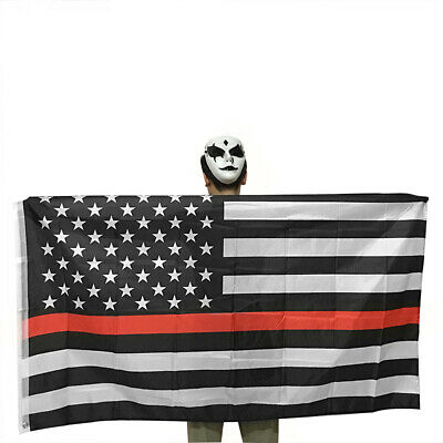 Thin Red Line USA American Flag Firefighters 3x5 Ft Banner Flag Decor Hot WH1