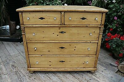 Wow! Big! Old Antique  Pine Chest Of Drawers/ Sideboard/ Kitchen - We Deliver!
