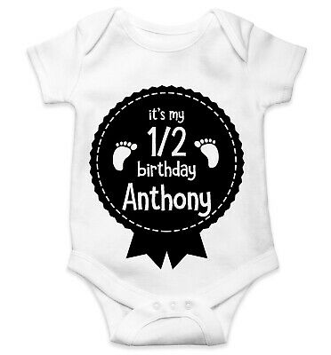 Personalised Baby Grow Vest Bodysuit Boys Girls Name Funny Baby Shower Gift 111