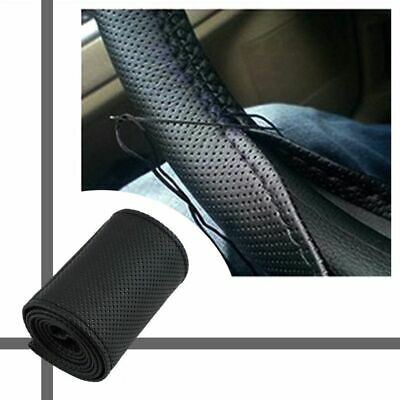 DIY Texture Soft Auto Car Steering Wheel Cover Artificial Leather With Needles