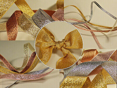 Berisfords Metallic Glitter Sparkley Lame Ribbon Per Metre *BUY 3 GET 1 FREE*