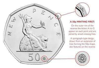 Britiana 50 Years of the 50p Anniversary Coin with 3 NEW special features