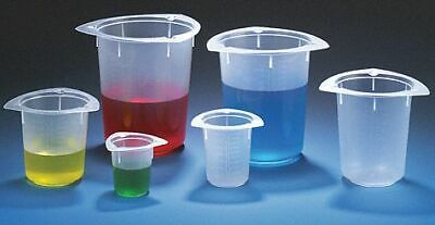 Globe Scientific Plastic Beaker, Low Form, 10 to 100mL, 100 PK   3641  - 1 Each