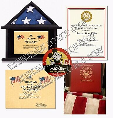 American Flag Flown over Capitol For Mickey Mouse 90th Birthday On Nov 18 2018
