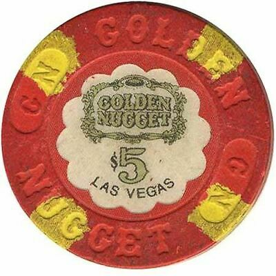 Golden Nugget Casino Las Vegas NV $5 Chip 1960s