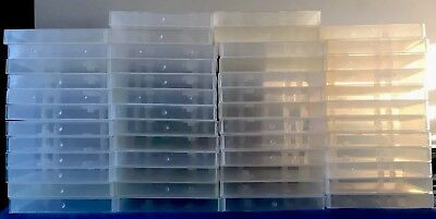 VHS Hard Plastic Storage Cases Lot Of 50 Tape Protector