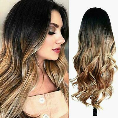 Fashion Women Long Hair Full Wig Natural Curly Wavy Hair Synthetic Straight L2H9