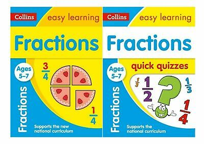 Collins Easy Learning Maths Ks1 Fractions Ages 5-7 *** 2 Book Bundle