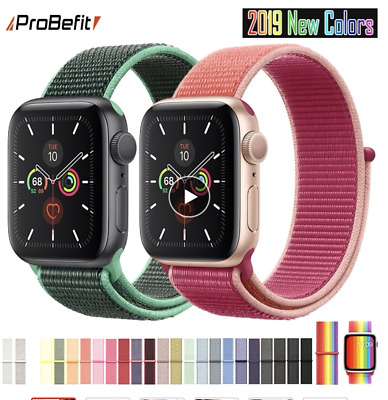 Apple Watch Nylon Series 5 4 3 2 Uhrenarmband Bunt Sport Loop Band Nylongewebe