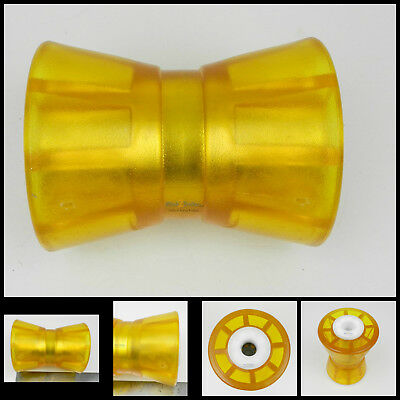 BOAT TRAILER PARTS KEEL ROLLER YELLOW 8 INCH 5//8S 56420