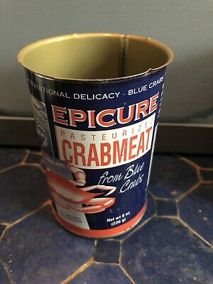 "Epicure Crabmeat Tin-Vintage, 4"" Cambridge, MD"
