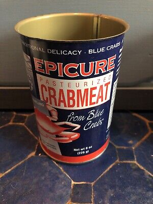 "Epicure Crabmeat Tin-4"" Cambridge, MD Vintage"
