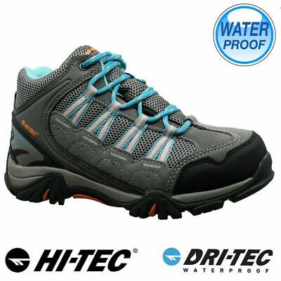 Hi Tec Junior Girls Leather Walking Hiking Waterproof Ankle Boots Trainers Shoes