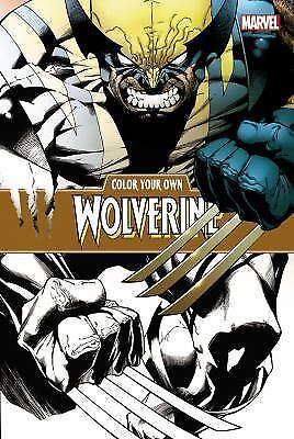 Color Your Own Wolverine, Marvel Comics, Very Good Book