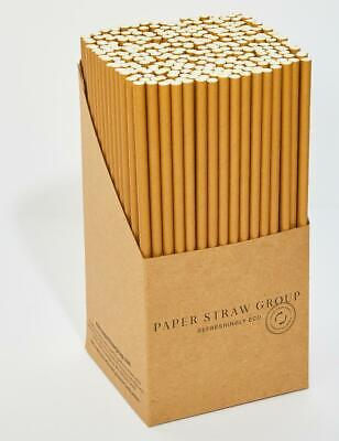 Kraft Paper Straws  UK MADE 6MM drinking party  friendly 1 / 50 /  250 / 500 ECO