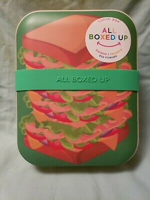 Bento Lunch Box All Boxed Up Eco Friendly Food Storage Container Sandwich NEW W