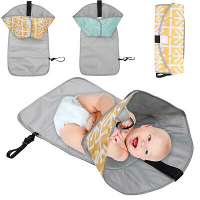 3 in 1 Folded Waterproof Baby Changing Pad Mat Clutch Diaper Change Sta P4PM