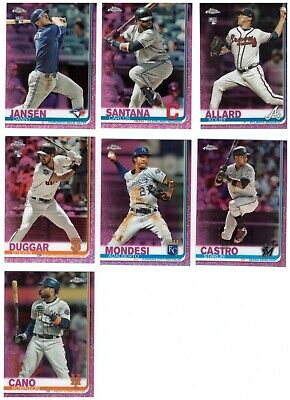 2019 Topps Chrome Refractor Parallel Singles: BASE, SEPIA, PINK, YOU PICK
