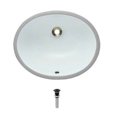 UPS-White Porcelain Bathroom Sink with Pop-Up Drain