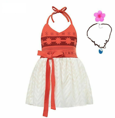Summer Moana Dress up Baby Toddler Girls Strap Backless Cosplay Costume Beach