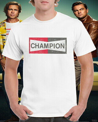 Champion T Shirt Once Upon A Time In Hollywood Brad Pitt Cool Gift Tee Top New