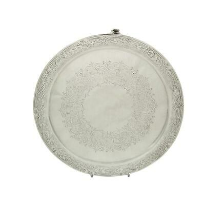 Antique Victorian Sterling Silver Tray / Salver 1885