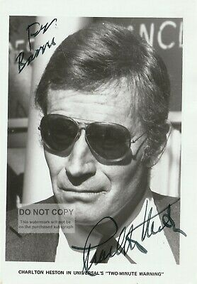 Charlton Heston autograph Oscar winning actor Genuine Signed Photograph with COA